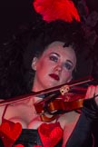Grand Opening of the DBPC IXL Event Centre: JParmoire's Folies - violin player Rosalie Butcher.. Dallas Burston Polo Club, Stoneythorpe Estate, Southam, Warwickshire, United Kingdom, on 05 December 2013 at 21:33, image #175