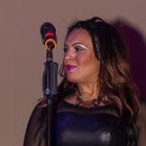 Grand Opening of the DBPC IXL Event Centre: Kym Mazelle & the Urban Blues Band - Michelle J - backing vocals.. Dallas Burston Polo Club, Stoneythorpe Estate, Southam, Warwickshire, United Kingdom, on 05 December 2013 at 21:43, image #191