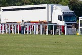 DBPC Polo in the Park 2013: The Kingsbridge Polo Team horsebox and ponies.. Dallas Burston Polo Club, , Southam, Warwickshire, United Kingdom, on 01 September 2013 at 10:13, image #18