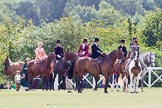 DBPC Polo in the Park 2013, side saddle riding demonstration by the The Side Saddle Association.. Dallas Burston Polo Club, , Southam, Warwickshire, United Kingdom, on 01 September 2013 at 12:45, image #211
