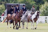 DBPC Polo in the Park 2013, side saddle riding demonstration by the The Side Saddle Association.. Dallas Burston Polo Club, , Southam, Warwickshire, United Kingdom, on 01 September 2013 at 12:48, image #213