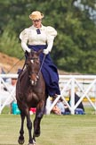 DBPC Polo in the Park 2013, side saddle riding demonstration by the The Side Saddle Association.. Dallas Burston Polo Club, , Southam, Warwickshire, United Kingdom, on 01 September 2013 at 12:50, image #217