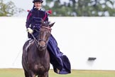 DBPC Polo in the Park 2013, side saddle riding demonstration by the The Side Saddle Association.. Dallas Burston Polo Club, , Southam, Warwickshire, United Kingdom, on 01 September 2013 at 12:50, image #219