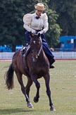 DBPC Polo in the Park 2013, side saddle riding demonstration by the The Side Saddle Association.. Dallas Burston Polo Club, , Southam, Warwickshire, United Kingdom, on 01 September 2013 at 13:03, image #290