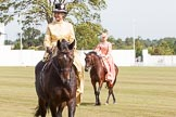 DBPC Polo in the Park 2013, side saddle riding demonstration by the The Side Saddle Association.. Dallas Burston Polo Club, , Southam, Warwickshire, United Kingdom, on 01 September 2013 at 13:05, image #306