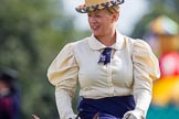 DBPC Polo in the Park 2013, side saddle riding demonstration by the The Side Saddle Association.. Dallas Burston Polo Club, , Southam, Warwickshire, United Kingdom, on 01 September 2013 at 13:06, image #311