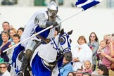 DBPC Polo in the Park 2013 - jousting display by the Knights of Middle England. Dallas Burston Polo Club, , Southam, Warwickshire, United Kingdom, on 01 September 2013 at 15:21, image #453