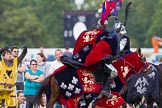 DBPC Polo in the Park 2013 - jousting display by the Knights of Middle England. Dallas Burston Polo Club, , Southam, Warwickshire, United Kingdom, on 01 September 2013 at 15:21, image #454