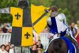 DBPC Polo in the Park 2013 - jousting display by the Knights of Middle England. Dallas Burston Polo Club, , Southam, Warwickshire, United Kingdom, on 01 September 2013 at 15:25, image #465
