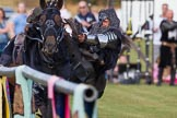 DBPC Polo in the Park 2013 - jousting display by the Knights of Middle England. Dallas Burston Polo Club, , Southam, Warwickshire, United Kingdom, on 01 September 2013 at 15:32, image #480