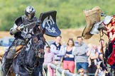 DBPC Polo in the Park 2013 - jousting display by the Knights of Middle England. Dallas Burston Polo Club, , Southam, Warwickshire, United Kingdom, on 01 September 2013 at 15:42, image #511
