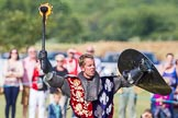 DBPC Polo in the Park 2013 - jousting display by the Knights of Middle England. Dallas Burston Polo Club, , Southam, Warwickshire, United Kingdom, on 01 September 2013 at 15:44, image #522