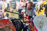 DBPC Polo in the Park 2013 - jousting display by the Knights of Middle England. Dallas Burston Polo Club, , Southam, Warwickshire, United Kingdom, on 01 September 2013 at 15:44, image #526
