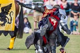 DBPC Polo in the Park 2013 - jousting display by the Knights of Middle England. Dallas Burston Polo Club, , Southam, Warwickshire, United Kingdom, on 01 September 2013 at 15:45, image #532