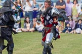 DBPC Polo in the Park 2013 - jousting display by the Knights of Middle England. Dallas Burston Polo Club, , Southam, Warwickshire, United Kingdom, on 01 September 2013 at 15:45, image #534