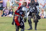 DBPC Polo in the Park 2013 - jousting display by the Knights of Middle England. Dallas Burston Polo Club, , Southam, Warwickshire, United Kingdom, on 01 September 2013 at 15:45, image #535