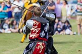 DBPC Polo in the Park 2013 - jousting display by the Knights of Middle England. Dallas Burston Polo Club, , Southam, Warwickshire, United Kingdom, on 01 September 2013 at 15:45, image #537