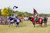 DBPC Polo in the Park 2013 - jousting display by the Knights of Middle England. Dallas Burston Polo Club, , Southam, Warwickshire, United Kingdom, on 01 September 2013 at 15:49, image #552