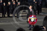 Remembrance Sunday 2012 Cenotaph March Past: Vice-Admiral Peter Wilkinson, the President of the Royal British Legion, leading the march past.. Whitehall, Cenotaph, London SW1,  United Kingdom, on 11 November 2012 at 11:26, image #5