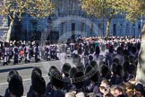 Remembrance Sunday 2012 Cenotaph March Past: The Massed Bands are marching past the Cenotaph.. Whitehall, Cenotaph, London SW1,  United Kingdom, on 11 November 2012 at 11:31, image #27
