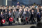 Remembrance Sunday 2012 Cenotaph March Past: Group E17 - LST & Landing Craft Association and E18 - HMS Andromeda Association.. Whitehall, Cenotaph, London SW1,  United Kingdom, on 11 November 2012 at 11:40, image #128