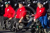 Remembrance Sunday 2012 Cenotaph March Past: Group E42 - British Ex-Services Wheelchair Sports Association.. Whitehall, Cenotaph, London SW1,  United Kingdom, on 11 November 2012 at 11:43, image #327
