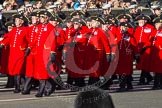 Remembrance Sunday 2012 Cenotaph March Past: Group E43 - Royal Hospital, Chelsea (Chelsea Pensioners).. Whitehall, Cenotaph, London SW1,  United Kingdom, on 11 November 2012 at 11:43, image #335