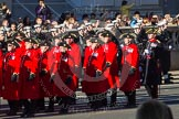 Remembrance Sunday 2012 Cenotaph March Past: Group E43 - Royal Hospital, Chelsea (Chelsea Pensioners).. Whitehall, Cenotaph, London SW1,  United Kingdom, on 11 November 2012 at 11:44, image #345