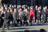 Remembrance Sunday 2012 Cenotaph March Past: Group F4 - Showmens' Guild of Great Britain and F5 - Queen's Bodyguard of The Yeoman of The Guard.. Whitehall, Cenotaph, London SW1,  United Kingdom, on 11 November 2012 at 11:45, image #408