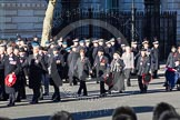 Remembrance Sunday 2012 Cenotaph March Past: Group F5 - Queen's Bodyguard of The Yeoman of The Guard and F6 - Popski's Private Army.. Whitehall, Cenotaph, London SW1,  United Kingdom, on 11 November 2012 at 11:45, image #417