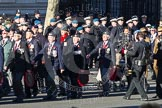 Remembrance Sunday 2012 Cenotaph March Past: Group F8 - British Korean Veterans Association.. Whitehall, Cenotaph, London SW1,  United Kingdom, on 11 November 2012 at 11:46, image #432