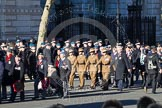 Remembrance Sunday 2012 Cenotaph March Past: Group F8 - British Korean Veterans Association and F9 - National Malaya & Borneo Veterans Association.. Whitehall, Cenotaph, London SW1,  United Kingdom, on 11 November 2012 at 11:46, image #434