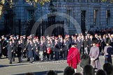 Remembrance Sunday 2012 Cenotaph March Past: Group A7 - Royal Northumberland Fusiliers  and A8 -  The Duke of Lancaster's Regimental Association.. Whitehall, Cenotaph, London SW1,  United Kingdom, on 11 November 2012 at 11:48, image #575