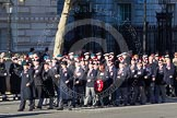 Remembrance Sunday 2012 Cenotaph March Past: Group A7 - Royal Northumberland Fusiliers  and A8 -  The Duke of Lancaster's Regimental Association.. Whitehall, Cenotaph, London SW1,  United Kingdom, on 11 November 2012 at 11:49, image #576