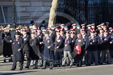 Remembrance Sunday 2012 Cenotaph March Past: Group A7 - Royal Northumberland Fusiliers  and A8 -  The Duke of Lancaster's Regimental Association.. Whitehall, Cenotaph, London SW1,  United Kingdom, on 11 November 2012 at 11:49, image #577