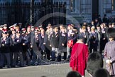 Remembrance Sunday 2012 Cenotaph March Past: Group A7 - Royal Northumberland Fusiliers  and A8 -  The Duke of Lancaster's Regimental Association.. Whitehall, Cenotaph, London SW1,  United Kingdom, on 11 November 2012 at 11:49, image #578
