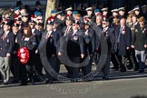 Remembrance Sunday 2012 Cenotaph March Past: Group A7 - Royal Northumberland Fusiliers  and A8 -  The Duke of Lancaster's Regimental Association.. Whitehall, Cenotaph, London SW1,  United Kingdom, on 11 November 2012 at 11:49, image #580