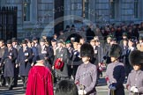 Remembrance Sunday 2012 Cenotaph March Past: Group A7 - Royal Northumberland Fusiliers  and A8 -  The Duke of Lancaster's Regimental Association.. Whitehall, Cenotaph, London SW1,  United Kingdom, on 11 November 2012 at 11:49, image #584
