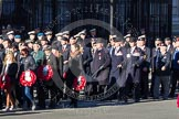 Remembrance Sunday 2012 Cenotaph March Past: Group A12 - Sherwood Foresters & Worcestershire Regiment, A13 - Mercian Regiment Association, and A14 - Rifles Regimental Association.. Whitehall, Cenotaph, London SW1,  United Kingdom, on 11 November 2012 at 11:49, image #625