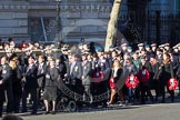 Remembrance Sunday 2012 Cenotaph March Past: Group A12 - Sherwood Foresters & Worcestershire Regiment, A13 - Mercian Regiment Association, and A14 - Rifles Regimental Association.. Whitehall, Cenotaph, London SW1,  United Kingdom, on 11 November 2012 at 11:49, image #627