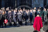 Remembrance Sunday 2012 Cenotaph March Past: Group A12 - Sherwood Foresters & Worcestershire Regiment, A13 - Mercian Regiment Association, and A14 - Rifles Regimental Association.. Whitehall, Cenotaph, London SW1,  United Kingdom, on 11 November 2012 at 11:49, image #628