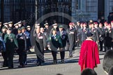 Remembrance Sunday 2012 Cenotaph March Past: Groups A16 - A19: Royal Irish Regiment Association/ Durham Light Infantry Association/King's Royal Rifle Corps Association/Royal Green Jackets Association.. Whitehall, Cenotaph, London SW1,  United Kingdom, on 11 November 2012 at 11:50, image #667