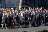 Remembrance Sunday 2012 Cenotaph March Past: Group A24 - Gordon Highlanders Association.. Whitehall, Cenotaph, London SW1,  United Kingdom, on 11 November 2012 at 11:52, image #727