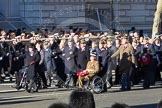 Remembrance Sunday 2012 Cenotaph March Past: Group A25 - Argyll & Sutherland Highlanders Regimental Association and A26 - Grenadier Guards Association.. Whitehall, Cenotaph, London SW1,  United Kingdom, on 11 November 2012 at 11:52, image #742