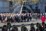 Remembrance Sunday 2012 Cenotaph March Past: Group A26 - Grenadier Guards Association and A27 - Coldstream Guards Association.. Whitehall, Cenotaph, London SW1,  United Kingdom, on 11 November 2012 at 11:52, image #744