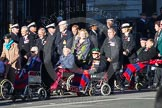 Remembrance Sunday 2012 Cenotaph March Past: Group C1, Blind Veterans UK.. Whitehall, Cenotaph, London SW1,  United Kingdom, on 11 November 2012 at 11:54, image #796