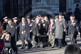 Remembrance Sunday 2012 Cenotaph March Past: Group C1, Blind Veterans UK and B1, Royal Army Medical Corps Association.. Whitehall, Cenotaph, London SW1,  United Kingdom, on 11 November 2012 at 11:54, image #802