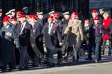 Remembrance Sunday 2012 Cenotaph March Past: Group B3, Royal Military Police Association.. Whitehall, Cenotaph, London SW1,  United Kingdom, on 11 November 2012 at 11:55, image #827
