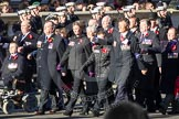 Remembrance Sunday 2012 Cenotaph March Past: Group B18 - Association of Ammunition Technicians.. Whitehall, Cenotaph, London SW1,  United Kingdom, on 11 November 2012 at 11:57, image #922
