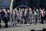 Remembrance Sunday 2012 Cenotaph March Past: Group B19 - Beachley Old Boys Association, and B20 - Arborfield Old Boys Association.. Whitehall, Cenotaph, London SW1,  United Kingdom, on 11 November 2012 at 11:57, image #934